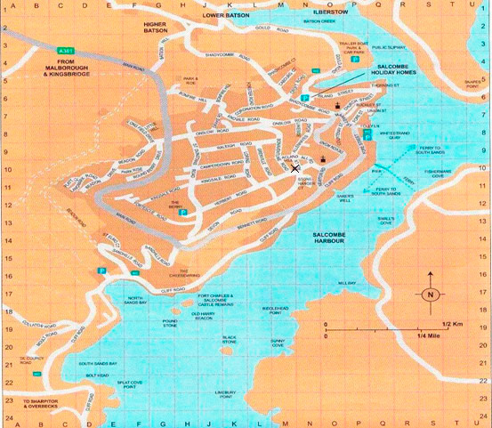 Image Gallery Salcombe Map